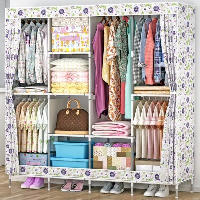 Flipkart Perfect Homes Studio PP Collapsible Wardrobe(Finish Color - Multicolor)