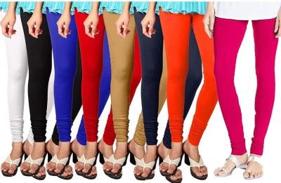 K M R Churidar  Western Wear Legging(Multicolor, Solid)