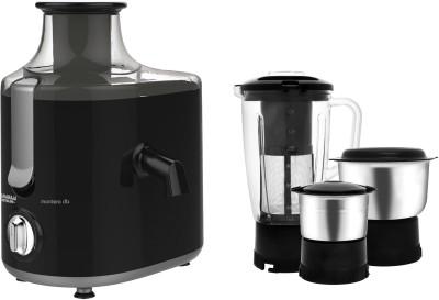 MAHARAJA WHITELINE Montero Dlx JX1-159 550 W Juicer Mixer Grinder(Black, 3 Jars)