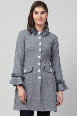 RVS FASHION MART Women Cotton Brushing Midi Short Coat