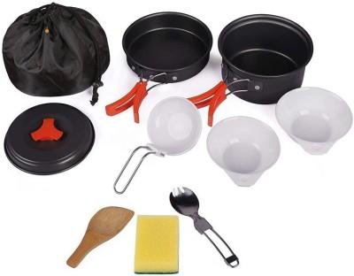 GAZE Camping Cookware Mess Kit Gear – Camp Accessories Equipment Pots and Pans Set Cookware Set(Hard Anodised, Aluminium, 10 -...