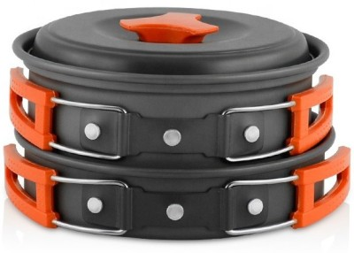 ACNIC Lightweight Outdoor Mess Kit Pot Pan Bowls Backpacking Anodized Aluminum Portable Camping Cookware Set Cookware Set(Hard Anodised, Aluminium, 10...