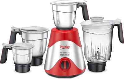 Prestige Ultimate Plus 41393 750 Juicer Mixer Grinder(Red, 4 Jars)