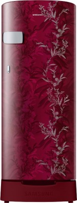 SAMSUNG 192 L Direct Cool Single Door 2 Star Refrigerator with Base Drawer(Mystic Overlay Red, RR19A2Z2B6R/NL)