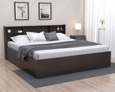 Forzza Jasper Engineered Wood Queen Box Bed(Finish Color -  Wenge)