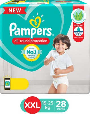 Pampers Diaper Pants Lotion with Aloe Vera Pant Style Diapers - XXL(28 Pieces)
