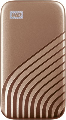 WD My Passport 1 TB Wired External Solid State Drive(Gold)