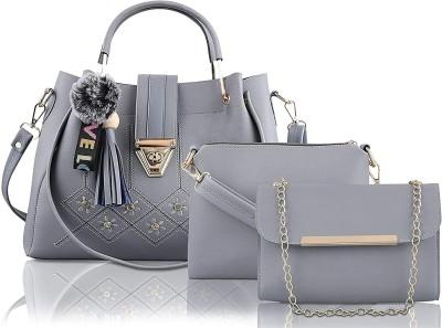 Fargo Women Grey Hand-held Bag(Pack of: 3)