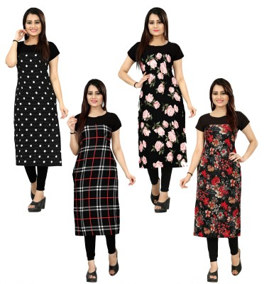 DSK STUDIO Women Printed Straight Kurta(Multicolor)