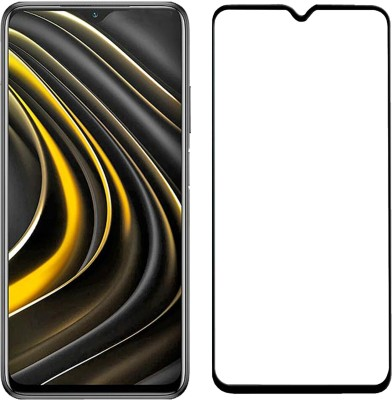 iZAP Edge To Edge Tempered Glass for Poco M3 (Black)(Pack of 1)