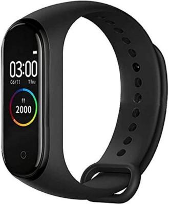 KUBA Bluetooth Smart Fitness Band Watch(Black Strap, Size : Free)