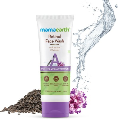 MamaEarth Retinol with Retinol & Bakuchi for Fine Lines and Wrinkles Face Wash(100 ml)