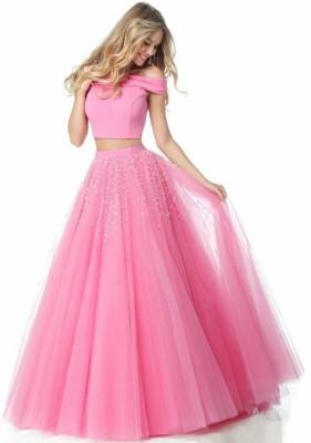 CRAZE N WORLD Self Design Semi Stitched Lehenga Choli(Pink)