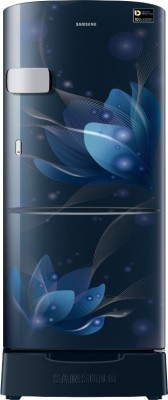 SAMSUNG 192 L Direct Cool Single Door 3 Star Refrigerator with Base Drawer(Saffron Blue, RR20A1Z2YU8/HL)