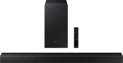 SAMSUNG HW-T45E/XL With Wireless Subwoofer 200 W Bluetooth Soundbar(Black, 2.1 Channel)