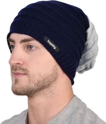 HUPSHY Self Design Woolen, Beanie Cap
