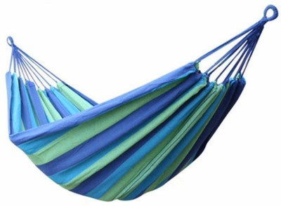 Ramkuwar Outdoor Hang Bed 280 * 150 cm Cotton Small Swing(Blue, DIY(Do-It-Yourself))