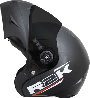 Steelbird SB-45 R2K OSKA Reflective Flip-up Motorsports Helmet(Black)