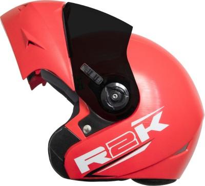 Steelbird SB-45 R2K OSKA Reflective Flip-up Motorsports Helmet(Red)
