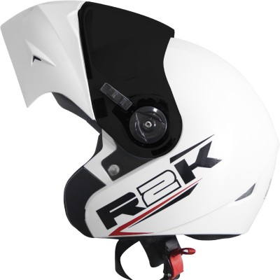 Steelbird SB-45 R2K OSKA Reflective Flip-up Motorsports Helmet(White)