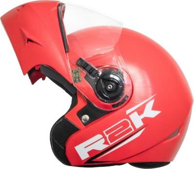 Steelbird R2K OSKA Reflective ISI Certified Flip Up Helmet Dashing Red Motorbike Helmet(Red with Clear Visor)