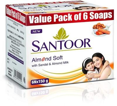santoor Sandal & Almond Milk Soap(6 x 150 g)