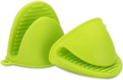 DECOBELL Light Green Silicon Kitchen Linen Set(Pack of 2)