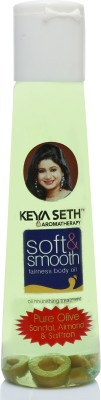 KEYA SETH AROMATHERAPY Soft & Smooth Body Oil, Quick Absorbing Non-Sticky Nourishment for Hair & Skin, Daily Use After Bath...