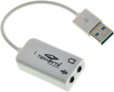 Terabyte 7.1 CHANNEL TB 026 Sound Card White Terabyte Mobile Accessories