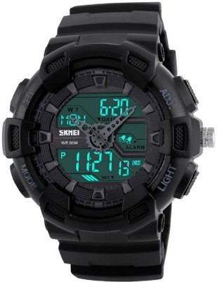 SKMEI 1189 Black Chronograph Analog Digital Fully waterproof with world time 28 zones Analog Digital Watch   For Men SKMEI Wrist Watches