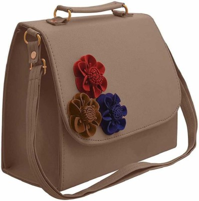 Sleema Fashion Beige Shoulder Bag