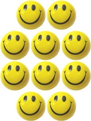 Pepino pack of 10 Smiley Face stress reliever Squeeze Ball for playing w   3 inch Yellow Pepino Soft Toys