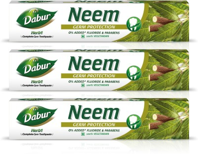 Dabur Herb'l Neem - Germ Protection Toothpaste Toothpaste(200 g, Pack of 3)