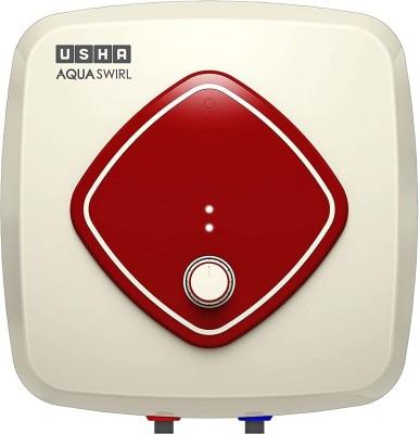 USHA 10 L Storage Water Geyser (Aqa Swirl 10 Litre 5 Star Storage Water Heater with Copper Heating Element (Ivory Wine), Beige)