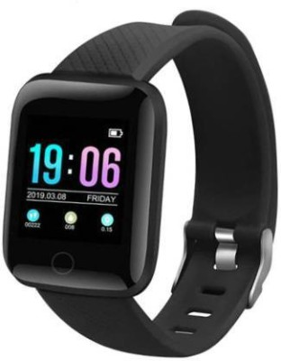 Attrrix 116 Plus heart rate Moniter Fitness(Black Strap, Size : Free)