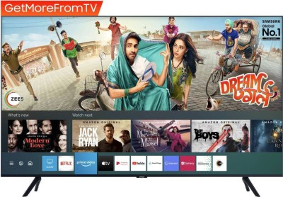 SAMSUNG 138 cm (55 inch) Ultra HD (4K) LED Smart TV 2021 Edition with Voice Search(UA55TUE60FKLXL)