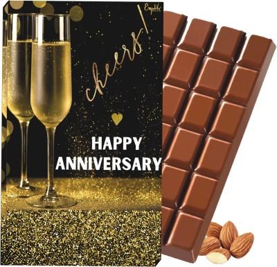 Expelite Happy Anniversay Chocolate Gift Bar Box for Husband - 100 gm Anniversary Chocolate Gift Box For Wife Bars(100 g)