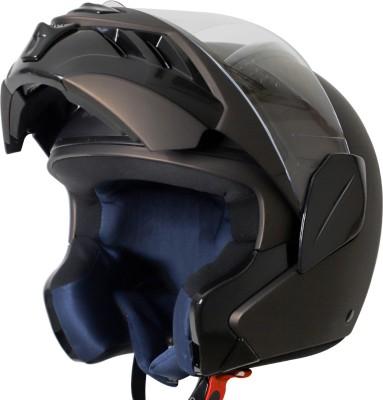 Steelbird TRX Flip Up Helmet, ISI Certified Helmet Motorbike Helmet(Matt Royal Brown with Clear Visor)