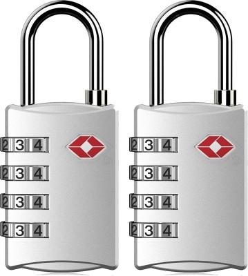 YUV TSA-Approved International Metal Suitcase Digit Combination Luggage Lock Mandatory for US Customs Safety Lock(Silver)