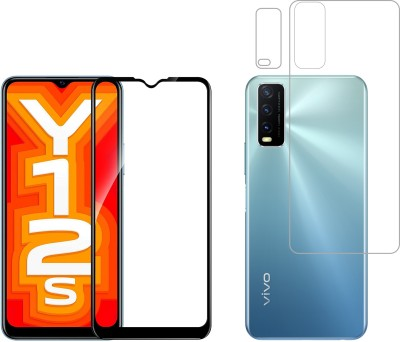 Vatsin Front and Back Tempered Glass for Vivo Y12s(Pack of 3)
