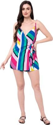 Tambi's Dilla Multicolor Jumpsuit Striped Women Swimsuit
