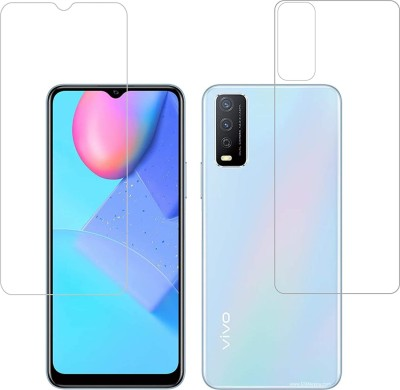 FIRST IMPRESSION Front and Back Tempered Glass for Vivo Y20A(Pack of 2)