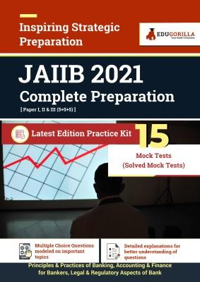 JAIIB 2021 | Latest Edition Practice kit with 15 Mock Tests (Paper I, II & III)(Paperback, EduGorilla)