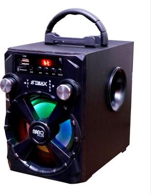 etmax NANO PLUS 30 W Bluetooth Home Theatre(Black, Stereo Channel)