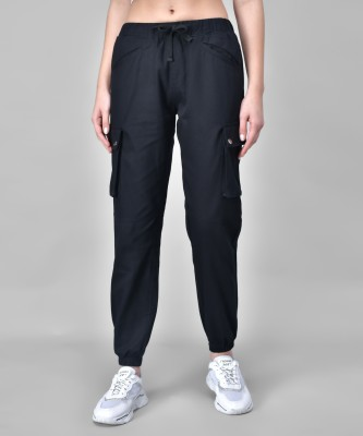 Q-Rious Relaxed Women Black Trousers