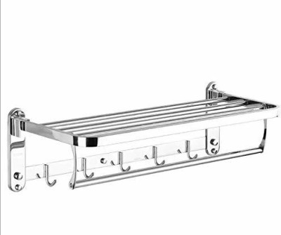 USF HIgh Grade Stainless Steel Bathroom Shelf/Kitchen Shelf/Bathroom Shelf and Rack/Tumbler Holder/Soap Holder/Bathroom Accessories Silver Finish Stainless Steel Wall Shelf(Number of Shelves - 1, Steel)