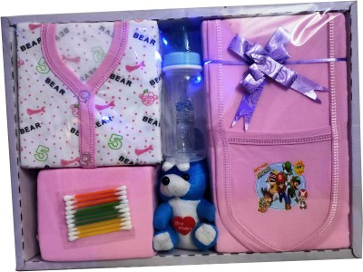 Siddhi Enterprises NEW BORN BABY GIFT COMBO SET ( PACK OF 7)