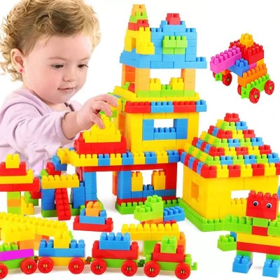 BOZICA BEST BABY BIRTHDAY GIFT Building Blocks,Creative Learning Educational Toy for Kids Puzzle Assembling Shape Building Unbreakable Toy Set(100 Pieces)