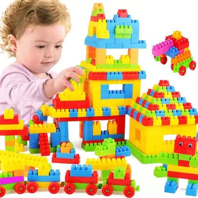 BOZICA Brand New Building Blocks,Creative Learning Educational Toy for Kids Puzzle Assembling Shape Building Unbreakable Toy Set(100 Pieces)
