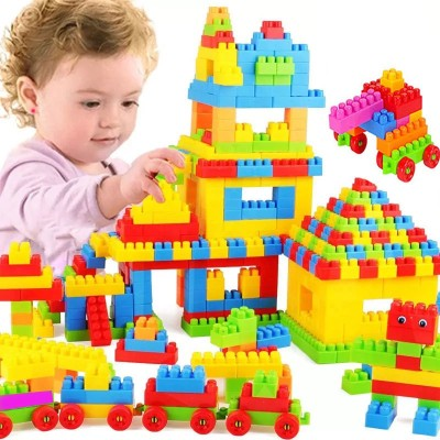 BOZICA BEST BABY GIFT 100 PCS(92 PIECES+8 TYRES) Building Blocks,Creative Learning Educational Toy for Kids Puzzle Assembling Shape Building Unbreakable Toy Set(100 Pieces)